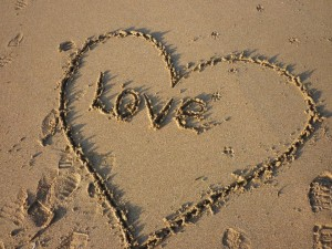 Loving Heart In The Sand